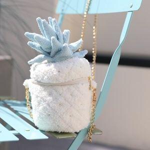 Plush Pineapple Crossbody Purse | Kawaii Bag